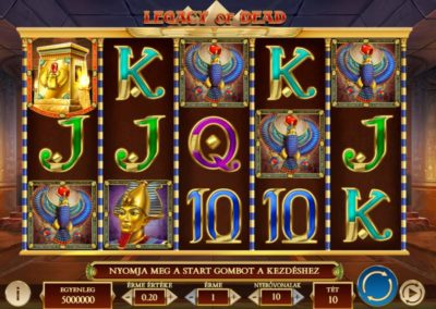 legacy of dead slot game. play and go